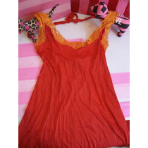 Victoria´s Secret Vestido Para La Playa Halter Sz:s Fn4