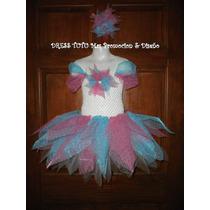 Exquisito Vestido Dress Tutu Organza Niñas 4 A 6 Años Nuevo