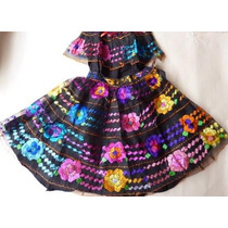 Chiapas Vestido 7 Olanes Baile Regionale Trajes Tipicos Nvb