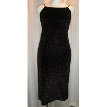 Vestido De Niña T.14, Terciopelo Negro/fiusha, Strech, S/m