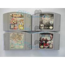 Juegos N64 Smash Bros, Star Fox, Mario 64, Resident Evil 2