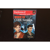 Resident Evil Code Veronica Playstation 2 Completo. Dead.