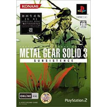 Metal Gear Solid 3 Subsistence Ps2 Japonesa