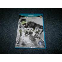 Splinter Cell Black List Nuevo Para Nintendo Wii U,excelente