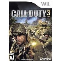 Call Of Duty 3 Wii Usado Y Aceptamos Cambios