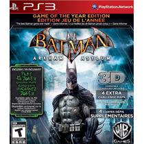 Batman Arkham Asylum Game Of The Year Ps3 Nuevo Blakhelmet E