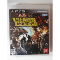 Ps3 Playstation Max Anarchy Videogame Accion Japones