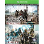 Assassins Unity Y Black Flag Xbox One 2 En 1 Oferta!