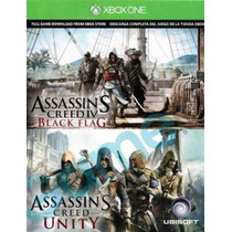 Assassins Unity Y Black Flag Xbox One 2 En 1 Oferta!