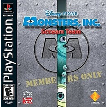 Disney Pixar Monster Inc. Scream Team Ps1 Ps2
