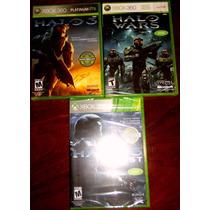 Lote Halo 3 Halo Wars Y Halo 3 Odst Xbox 360 Nuevos Sellados