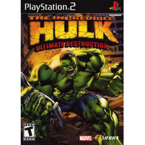 The Incredible Hulk Ultimate Destruction Game Cube Wii *