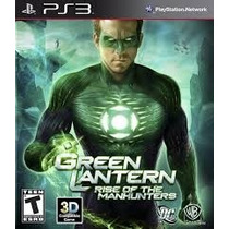 Green Lantern Rise Of The Manhunters Sellado Playstation Ps3