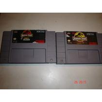 Super Nintendo Jurasic Park Y Jurasic Park 2 Originales