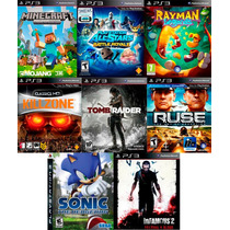 8 Juegos Ps3 Minecraft, Tomb Raider, All Stars Battle Royal