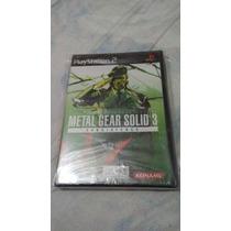 Metal Gear Solid Subsistence 3 Nuevo, Sellado Ps2 $499