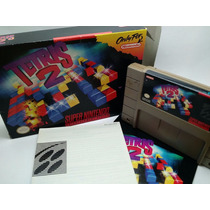 Tetris 2 Para Super Nintendo Con Caja Y Manual