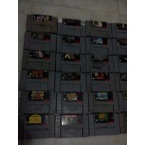 Lote Juegos Super Nintendo Snes A Un Solo Precio Checalos!