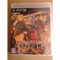 Ps3 Playstation Dungeons And Dragons Japon Anime