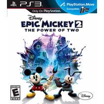 Epic Mickey 2 The Power Of Two Dos Disney Ps3 Nuevo Veracruz