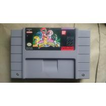 Mighty Morphin Power Rangers Snes Super Nintendo Bandai