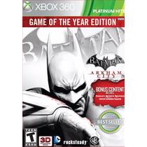 Batman Arkham City Nuevo Sellado Xbox 360 Juego Del Año