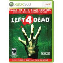 °° Left 4 Dead Edicion Juego Del Año Xbox 360 °° Bnkshop