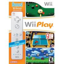 Nintendo Wii Play Incluye Un Control Wii Remote
