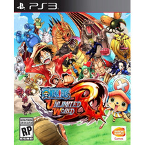 One Piece Unlimited World Red Ps3 Playstation Nuevo Sellado