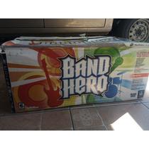 Band Hero Ps3 Guitarra, Batería Y Micrófono Nuevo!
