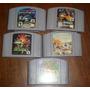 Lote De 5 Juegos Nintendo 64 N&$ Mario 64 Star Fox