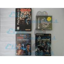Paquete Juegos Resident Evil Long Box, 2, 4, Code Veronica