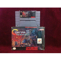 Contra 3 The Alien Wars Nintendo Snes Impecable Caja Juego