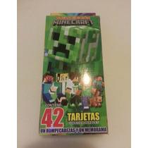Minecraft Tarjetas De Poder/batalla (42 Piezas)