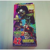 Plantas Vs Zombies Tarjetas De Poder/batalla (42 Piezas)