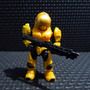 Halo 3 Mega Bloks Minifigura Spartan Security Amarillo