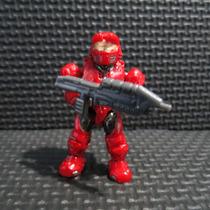 Halo Wars Mega Bloks Minifigura Spartan Mark V Rojo