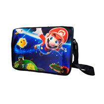 Mochila Escolar De Portafolio Super Mario Bros Galaxy