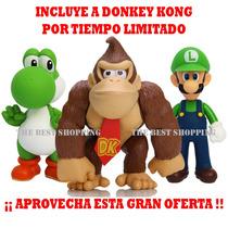 Lote 3 Muñecos Mario Bros Yoshi Luigui Super Precio Barato