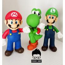 Figuras De Colección Super Mario Bros Set 3 Piezas