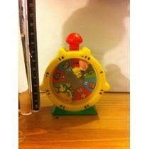 Figura Tipo Reloj Bowser Y Princesa Peach