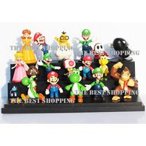 Mario Bros Figuras 18 Piezas Yoshi Donkey Coleccion Nintendo