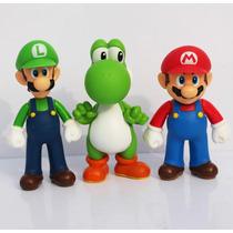 Colección De Figuras De Mario Bros Mario Luigi Yoshi 13 Cm