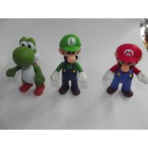 Figuras Grandes De Super Mario Bros Set De 3 Pzas