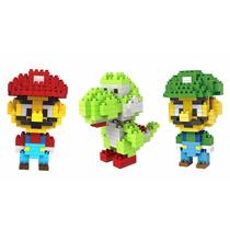 Figura Armable Mario, Luigi Y Yoshi, Mario Bros.