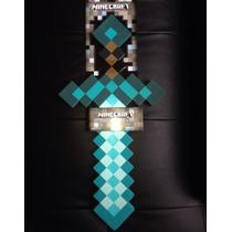 Minecraft Pico O Espada Diamante De Espuma Rigida (2013)