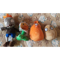 Lote 4 Plush Plants Vs Zombies Peluches Animecun