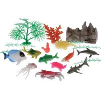 Eeuu Toy Surtido Océano Animal Y Vegetal Set De Juegos (20 P
