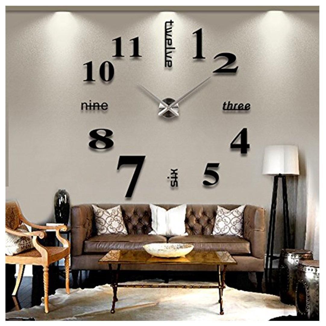 Vinilo decorativo 3d reloj para sala sobrepedido 1 500 - Reloj vinilo pared ...