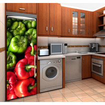 Vinilo Decorativo Para Refrigerador. ¡ Haz Única Tu Cocina !